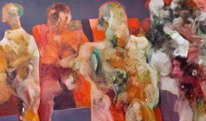 Oeuvre Abstrait du peintre Mongi Maatoug