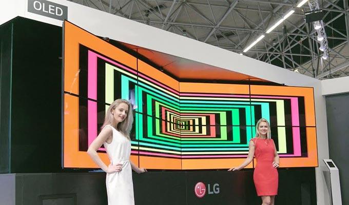 le stand de lg ise 2017 disposera dun affichage de signaltique oled cadre ouvert flexible qui mettra en vidence les avantages de la technologie oled